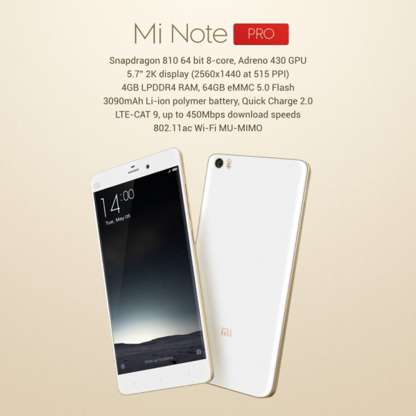 Xiaomi Mi note pro specs