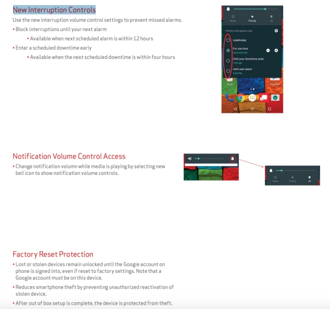 Verizon Moto X 2nd Gen Android 5.1 Update Changes