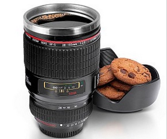 Lens Shaped Coffee Mug