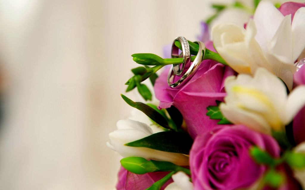 Beautiful Wedding Ring and Flower Rose Wallpaper HD 8