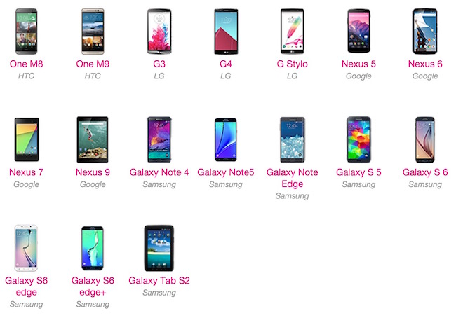 List of T-Mobile phones to get Andorid 6 marshmallow update