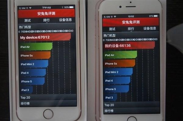 Samsung A9 vs TSMC A9 benchmark performance test 1