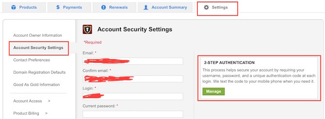 Save GoDaddy Hosting account and domain from hackers