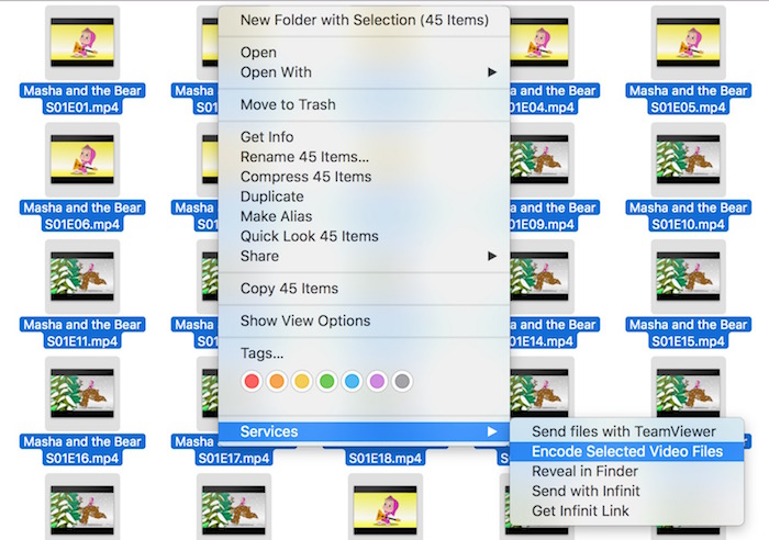 Convert Multiple videos to m4v