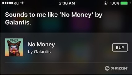 Siri Song Identifies