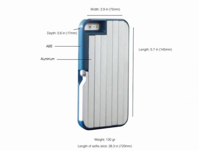 Stickbox selfie stick iphone case
