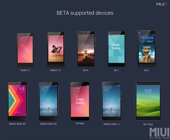 MIUI 7 Global Beta ROM 6.1.8 Android 6 Marshmallow