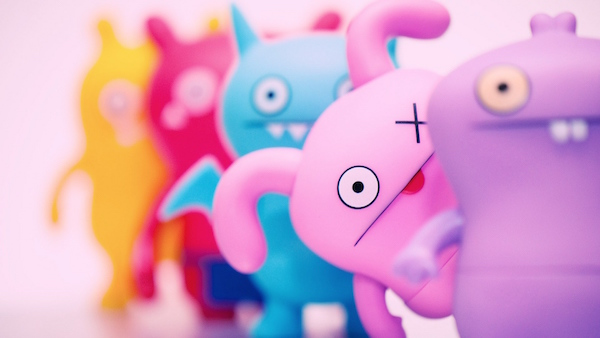 Pink cartoon ghost wallpaper HD