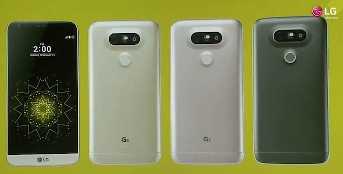 LG G5 Colors