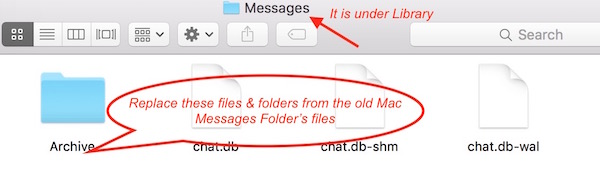 Restoring Messages to new Mac
