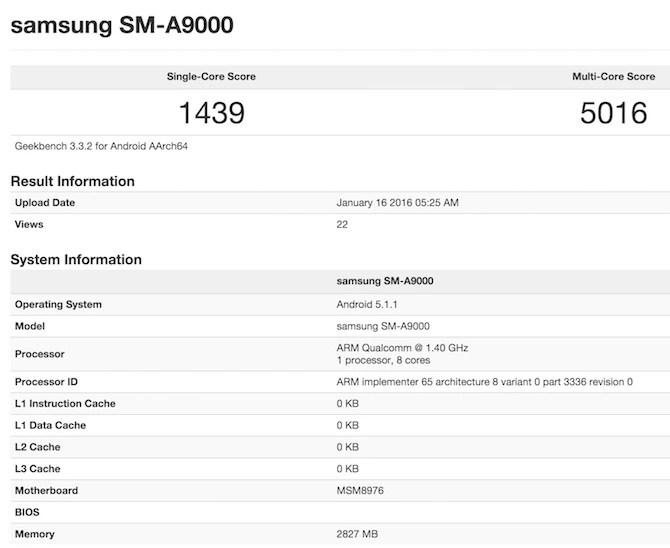 Snapdragon 652 Geekbench 3