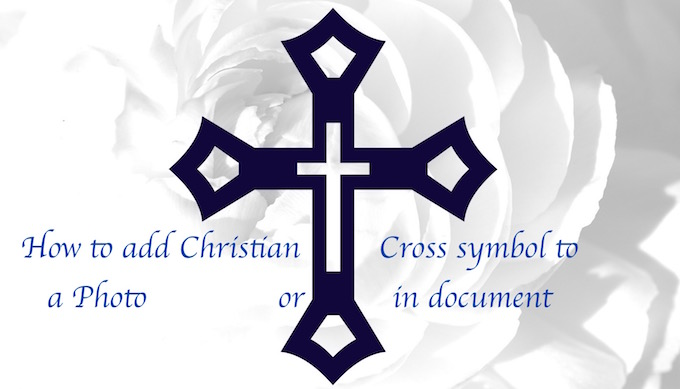 Adding Christian cross to image