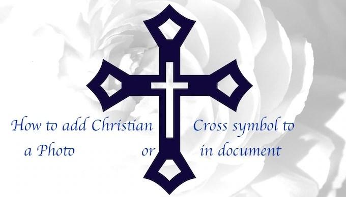 Adding Christian cross to image