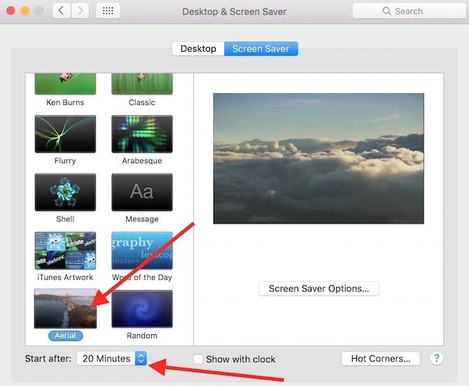 Apple TV Aerial View Screen Saver for Mac