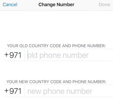Change WhatsApp Number
