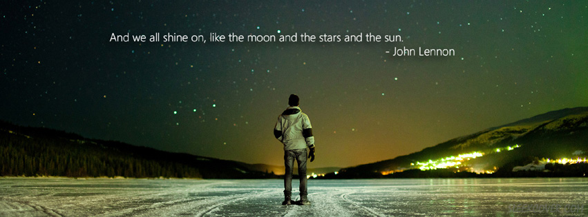 John Lennon Quote FaceBook Cover