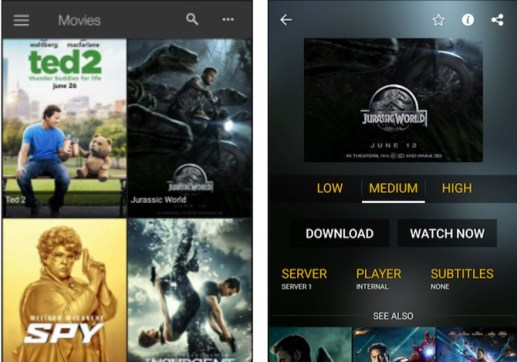 ShowBOX App Screen