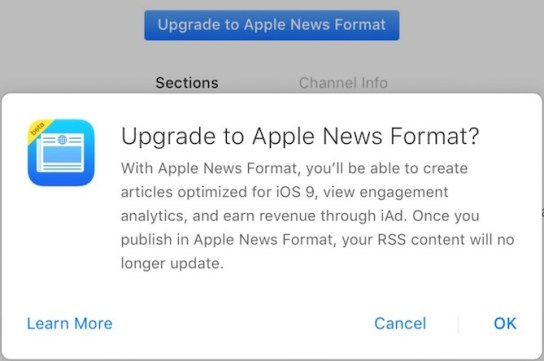 Upgrade to Apple News