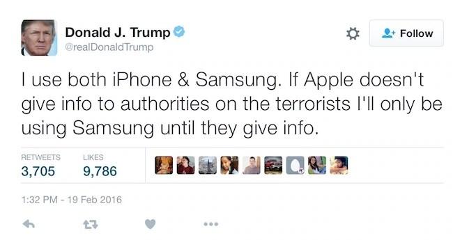 iPhone Boycott trump