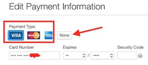 Delete or Edit payment Information