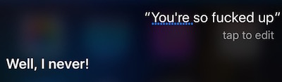 Siri denies