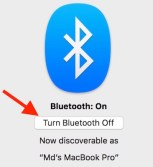Turn off Bluetooth