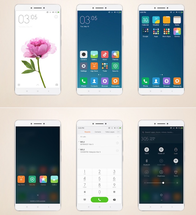 Mi Max Light Theme Preview