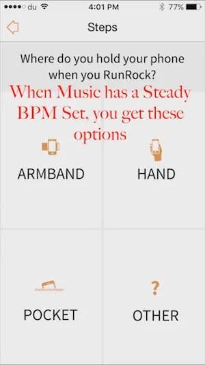 Music with steady BPM