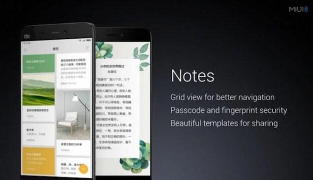 Notes app in MIUI8