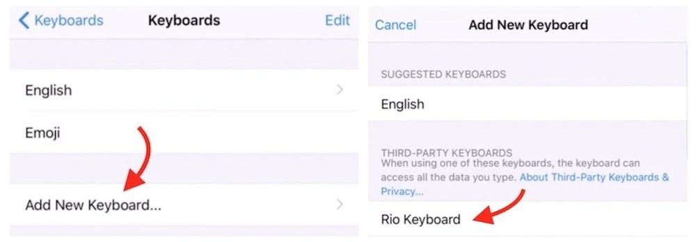 Rio Keyboard add