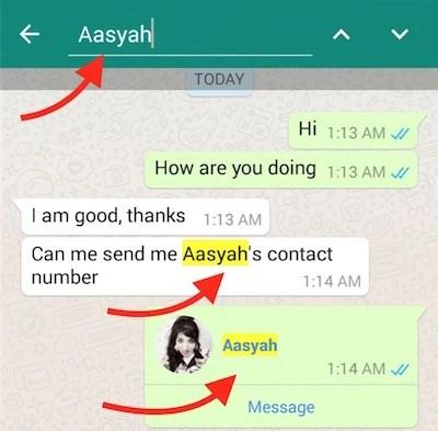 Search WhatsApp Chat