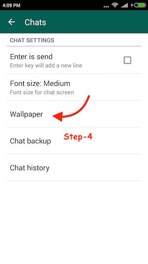 WhatsApp Chat Wallpaper Android 4