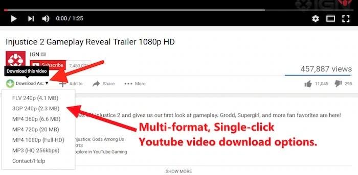 Best YouTube Downloader Firefox Browser Addon or Plugin