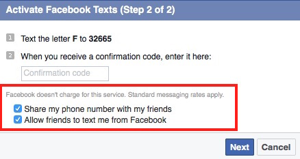 FaceBook Veification code