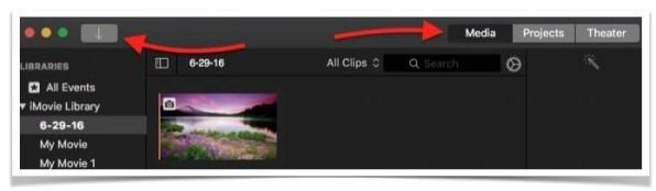 Add Image to iMovie app