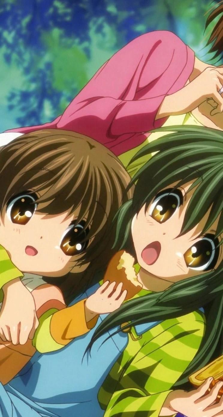 Anime children whatsapp chat theme
