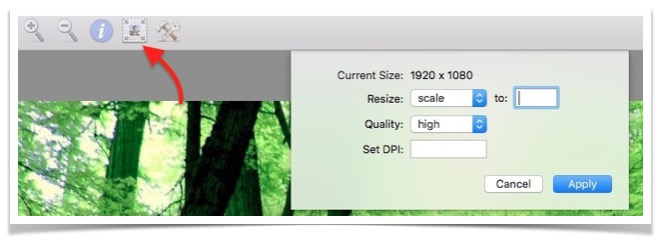 Change image quality and resize