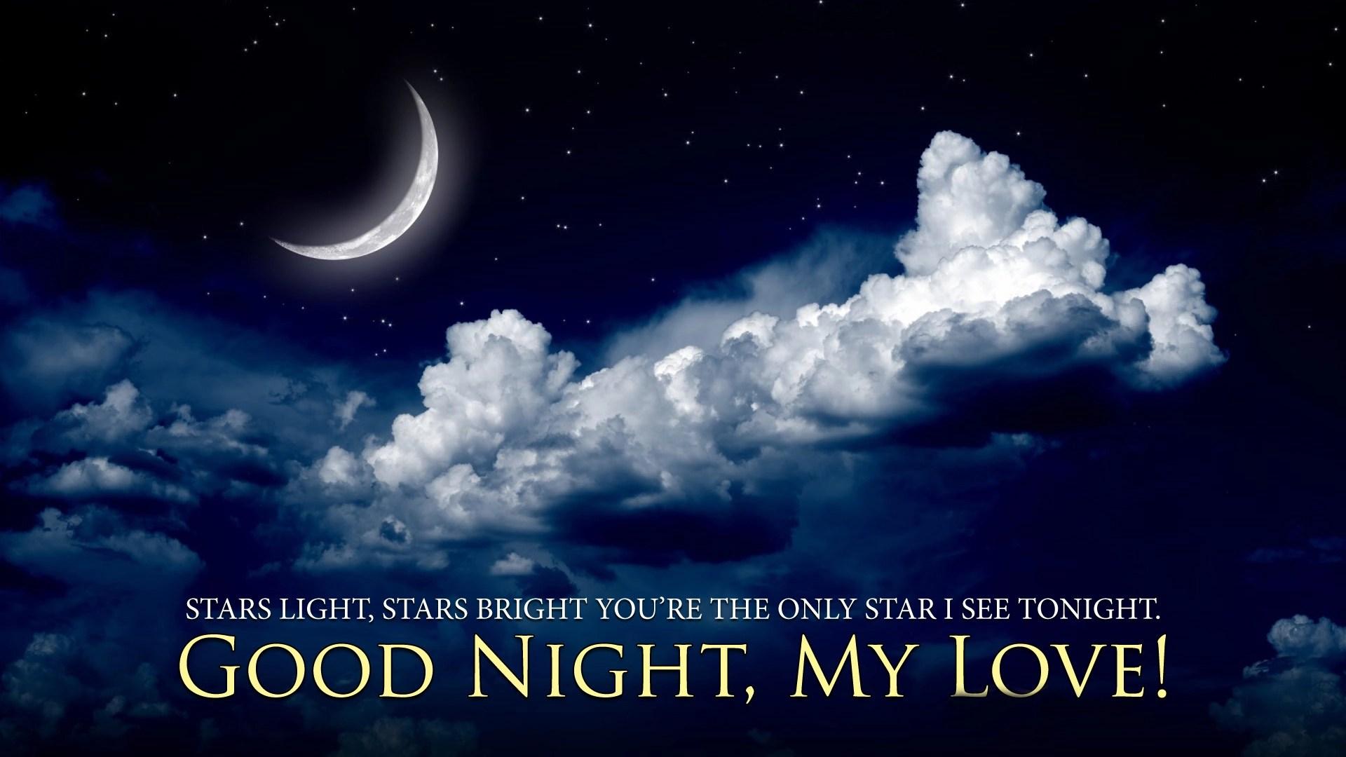 Good night my love start moon image