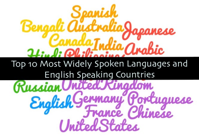 Most Widely Spoken language and english speaking country