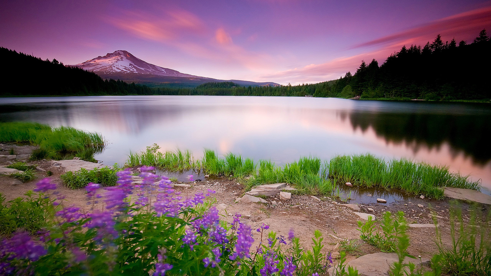 Nature lake mountain wallpaper