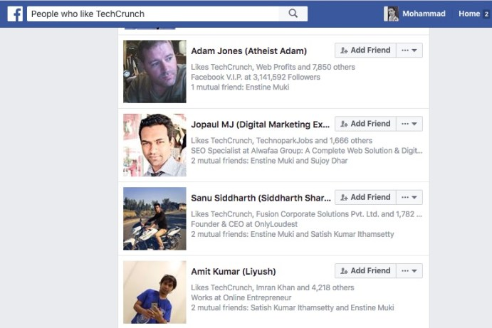 FaceBook People Search Trick to filter or customize result