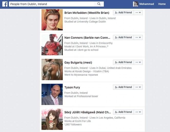 People from Dublin Ireland on FB