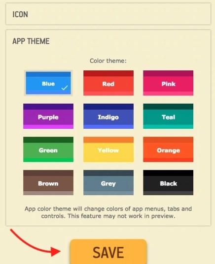 Select App theme