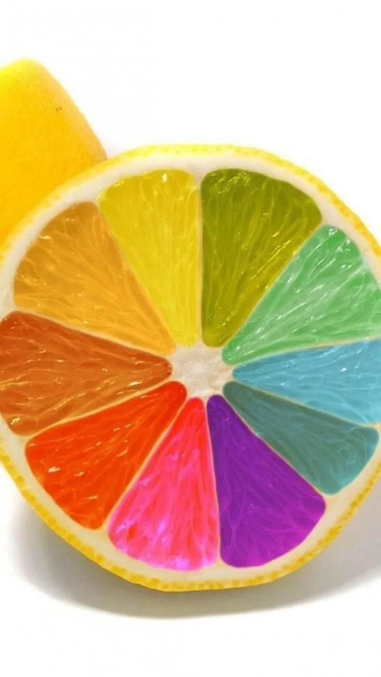 iPhone 7 colorful lemon wallpaper
