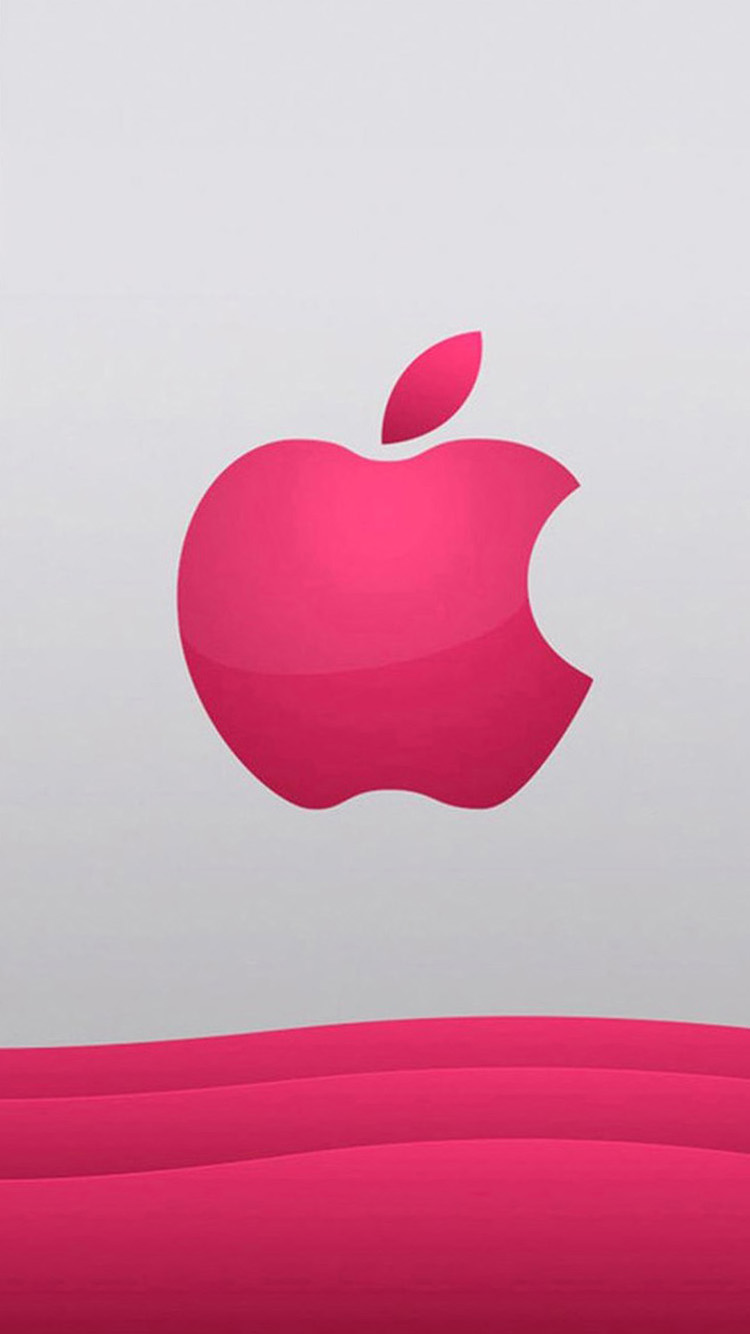 iPhone 7 pink Apple logo Wallpaper