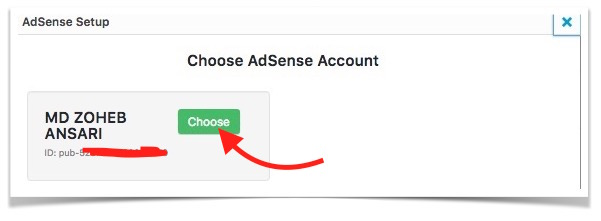choose-adsense-account