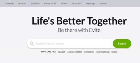 Evite E Invitation Card Search