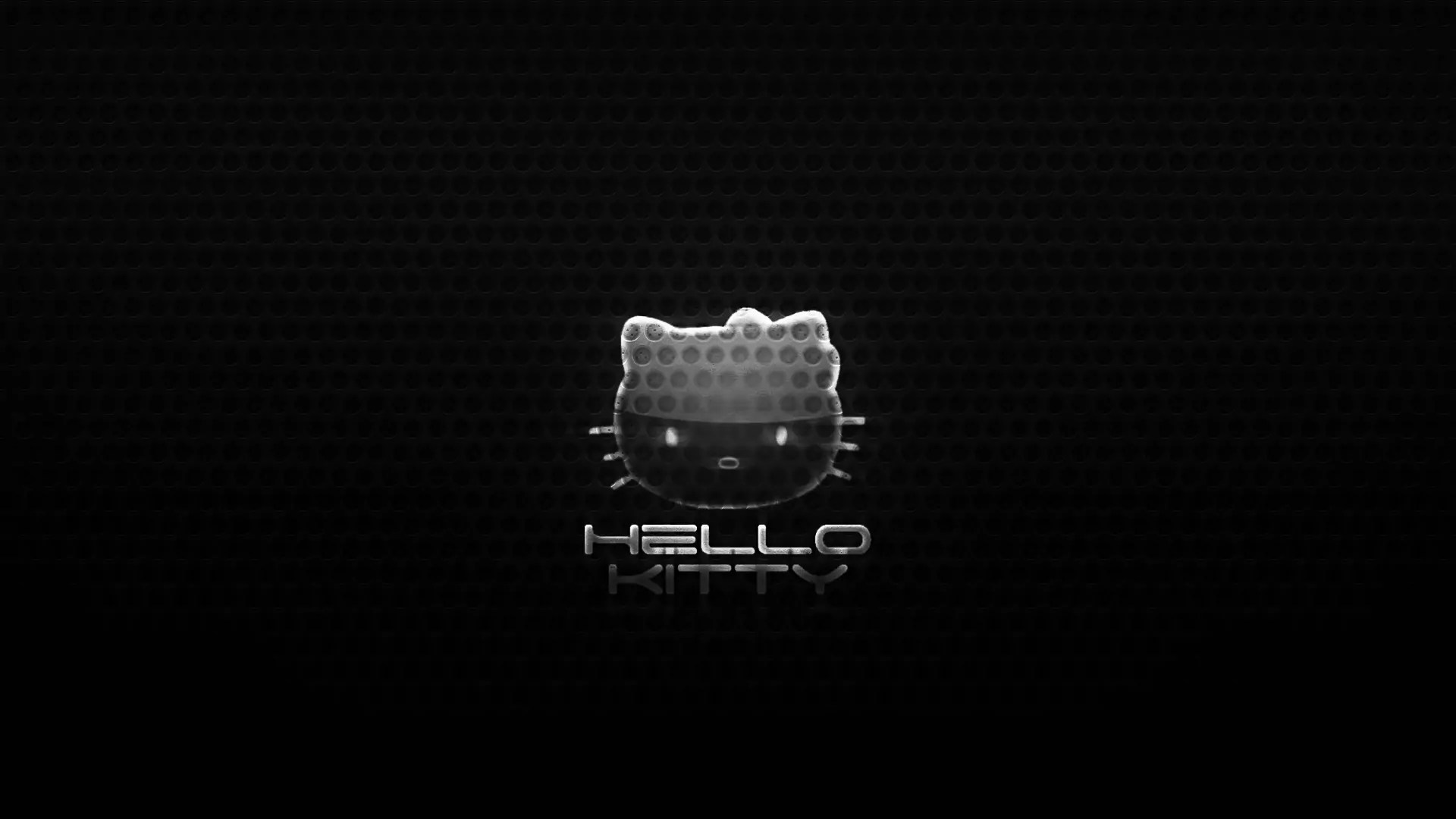 Hello kitty Black background