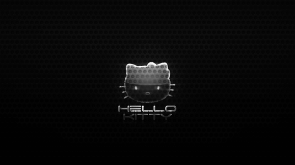 Hello kitty Black background