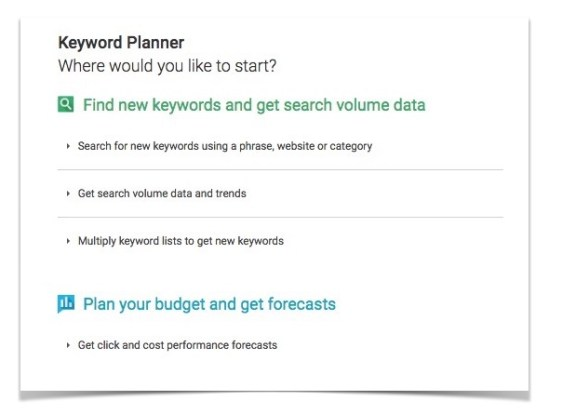 keyword-planner-home-page